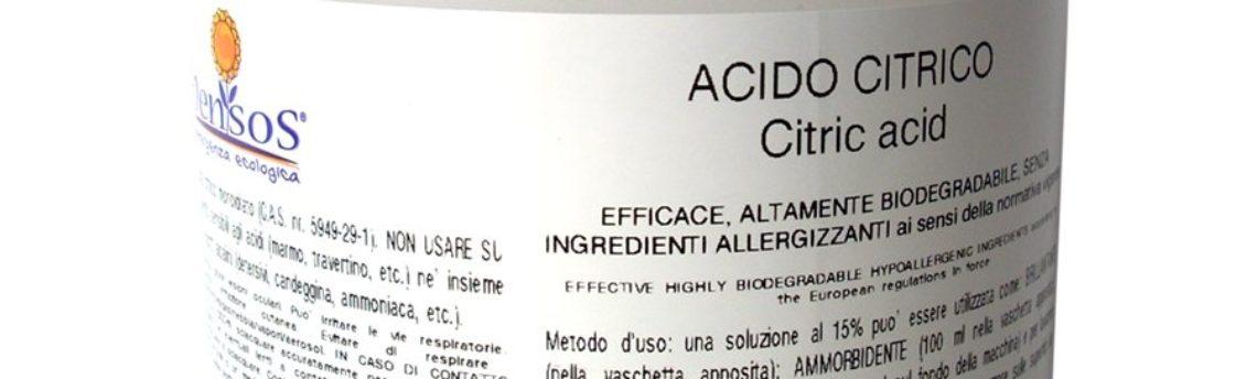 Acido citrico anticalcare: toglie il calcare senza rovinare le superfici. Utilizzato per pulire la doccia ed in lavatrice per il bucato.
