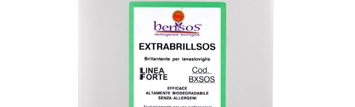 Extrabrillsos, brillantante per lavastoviglie professionale