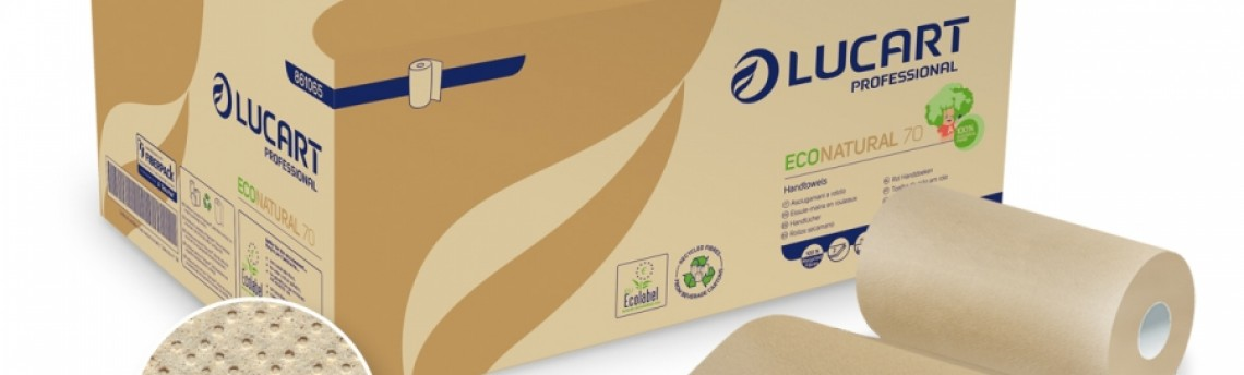 Rotolo carta assorbente per mani e superfici, produttore Lucart