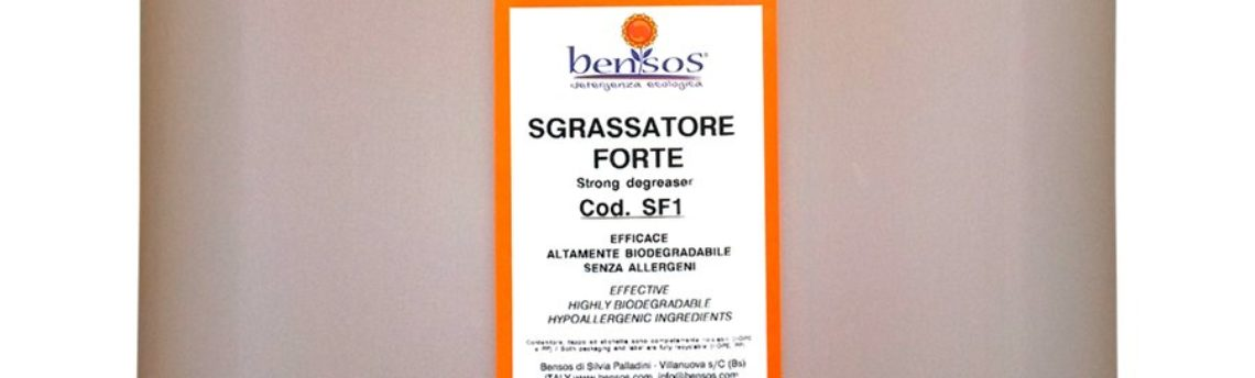 Sgrassatore Forte: concentrato, senza profumo ne' allergeni