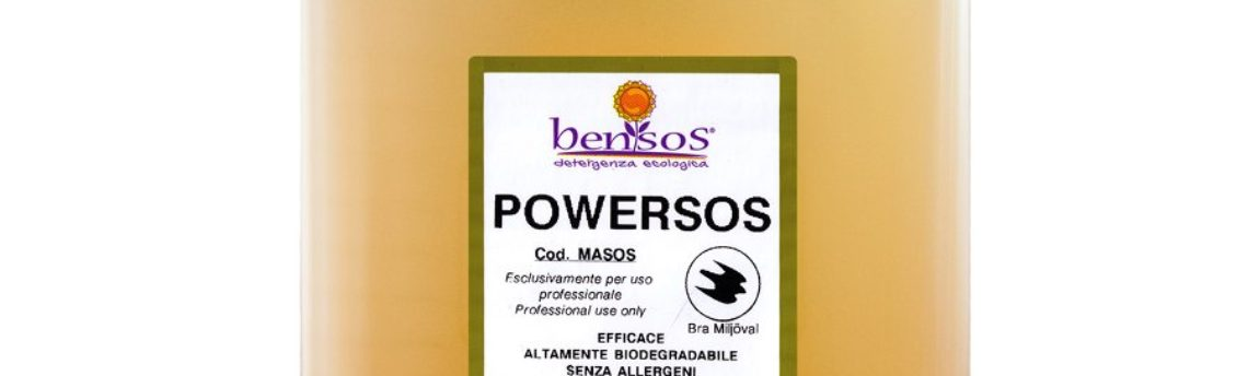 Powersos, sgrassatore concentrato certificato Good Environmental Choice