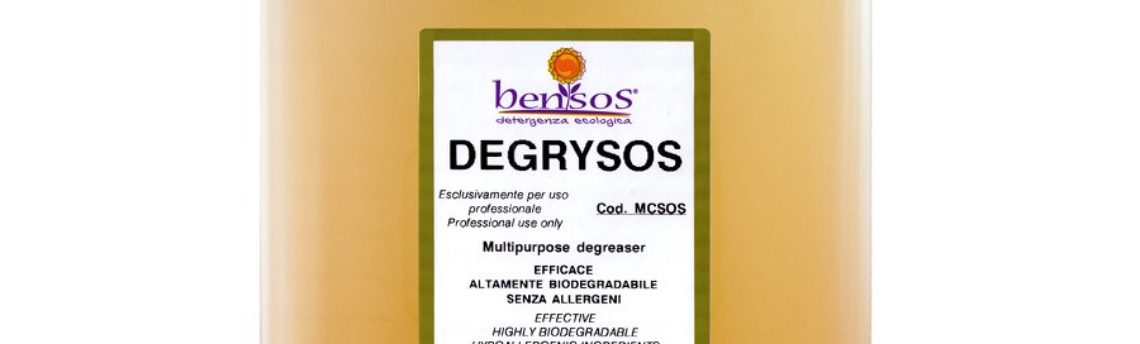Degrysos, multipurpose degreaser suitable for HACCP