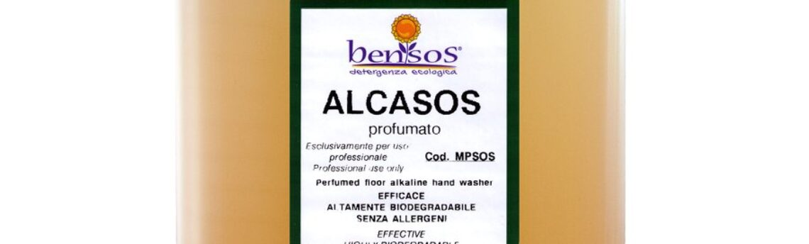 Alcasos ecological detergent to clean floors by hand