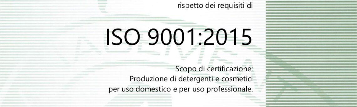 Bensos ha ottenuto l'importante certificazione ISO 9001:2015